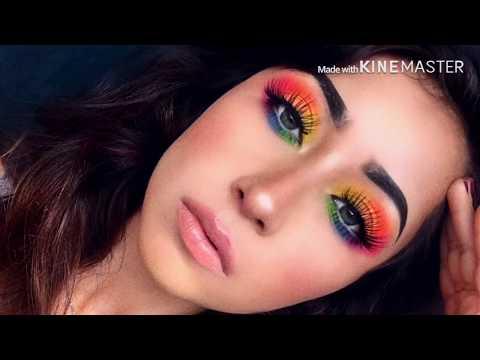 Como hacer un maquillaje arcoíris ! Paso a paso