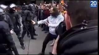 Karateka en Manifestación de Barcelona