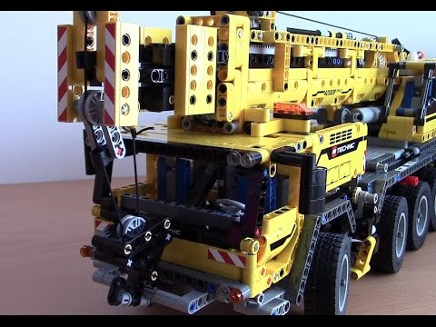 mobiler schwerlastkran 42009 mk ii von lego technic youtube. Black Bedroom Furniture Sets. Home Design Ideas