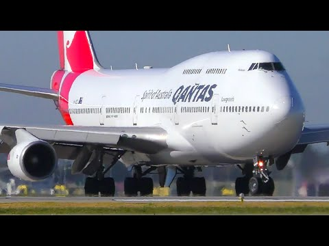 30 VERY CLOSE UP Takeoffs   A380 747 787   Melbourne Airport Plane Spotting
