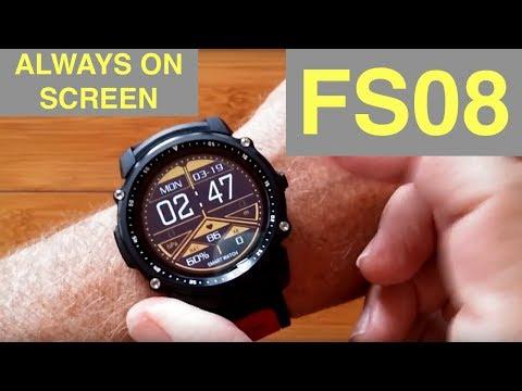 Kingwear FS08 Transflective TFT Screen IP68 Waterproof GPS Fitness Smartwatch: Unboxing & Review