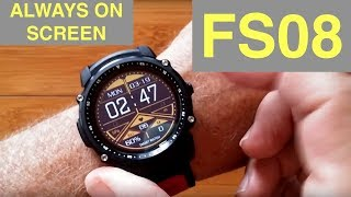 Kingwear FS08 Transflective TFT Screen IP68 Waterproof GPS Fitness Smartwatch: Unboxing & Review