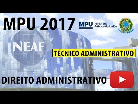 Correção Prova MPU 2013 Técnico Administrativo Direito Administrativo