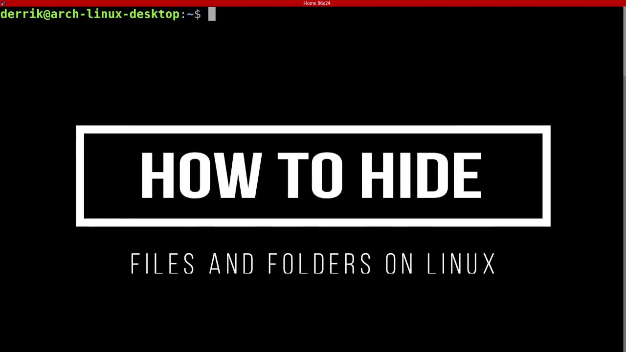 How to hide files and folders on Linux by AddictiveTipsTV