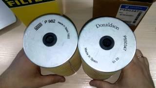 Сравнение топливные фильтры MANN FILTER P982 и DONALDSON P550347 Fuel Filter Cartridge Test