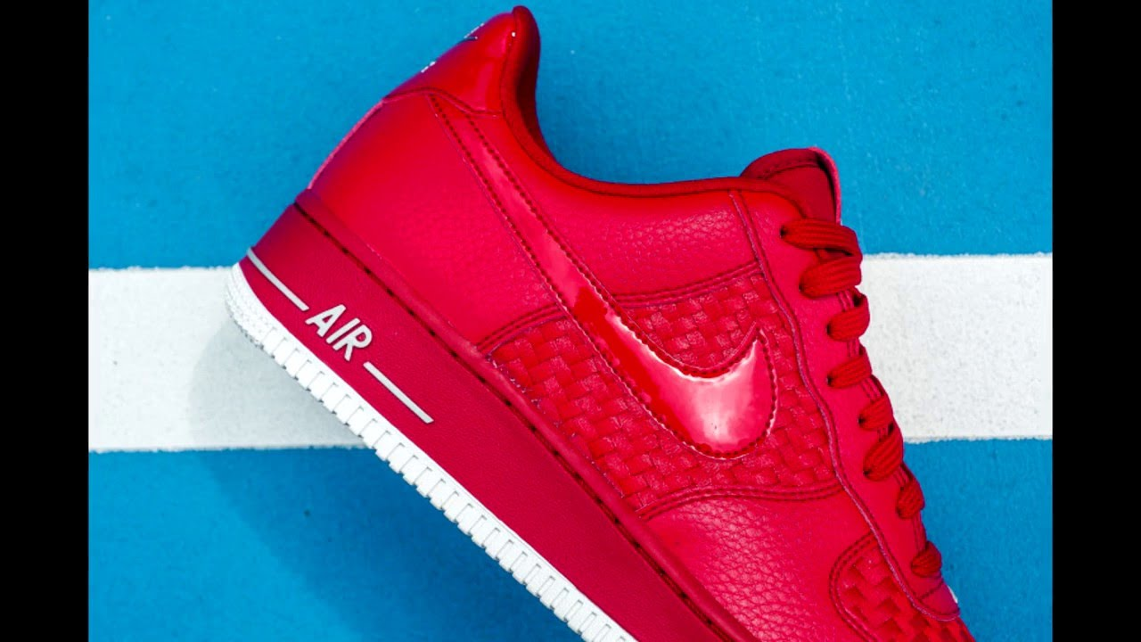Nike Air Force 1 Rojo '07 Lv8 Woven Gimnasio Rojo 1 Youtube 057c6a