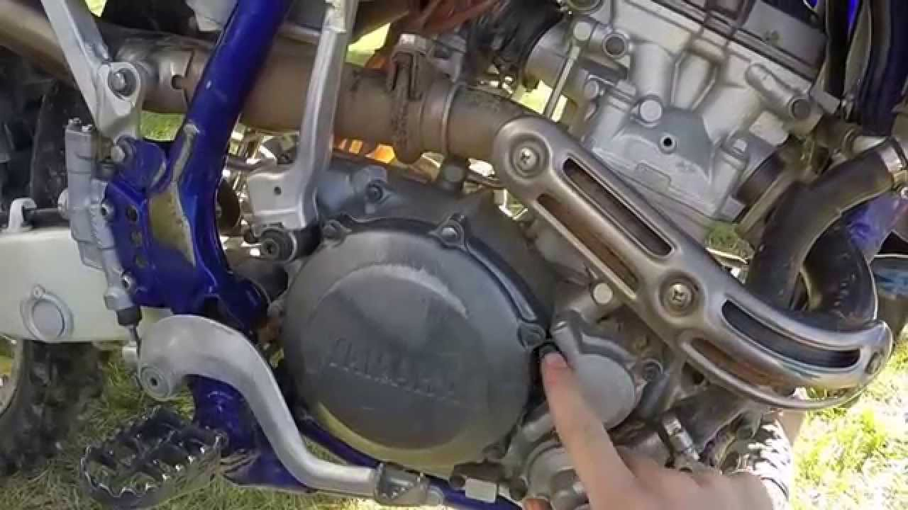 YZ250F oil change