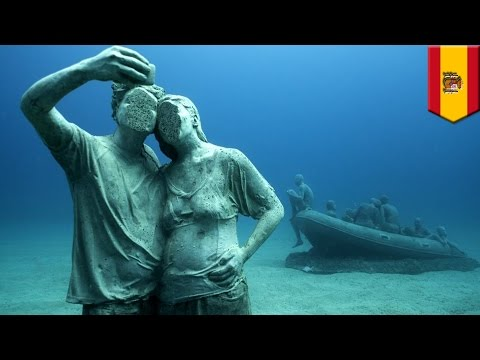 Underwater museum: Europe's first permanent underwater art project opens in Spain - TomoNews