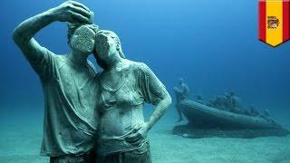 Underwater museum  Europe's first permanent underwater art project opens in Spain   TomoNews