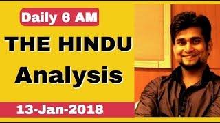 6:00 AM-THE HINDU EDITORIAL ANALYSIS (13 JAN, 2018)