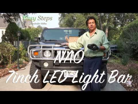 How To Install LED Light Bar on HUMMER H2 | HUMMER H2 Offroad Driving LED Lights
