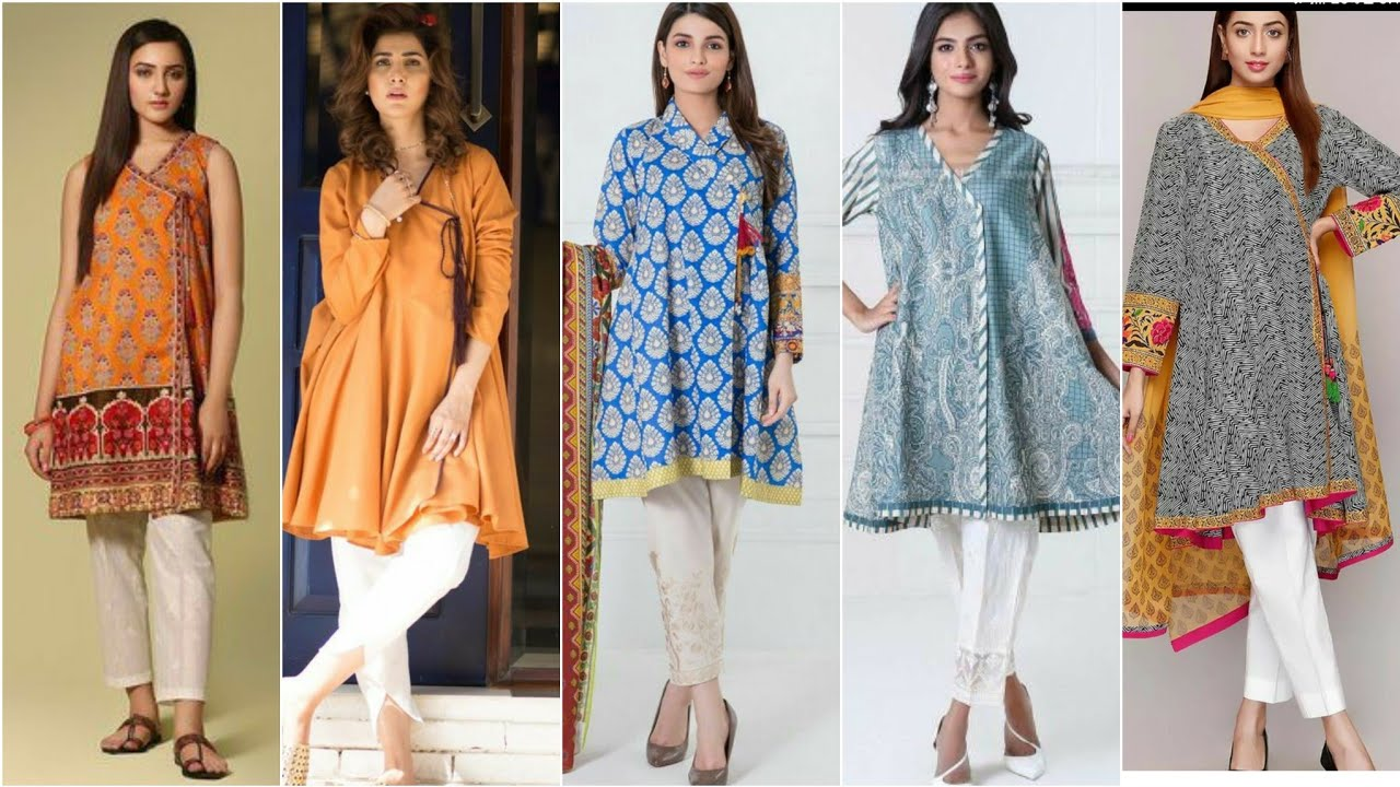 Most Trending #Angrakha Style Short and long Shirts Designs/#Frocks Designs For Girls #beautyworld