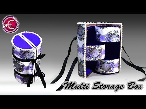 Best out of waste | Recycle | Tape roll Multi Storage Box| DIY  | Art with Creativity 218