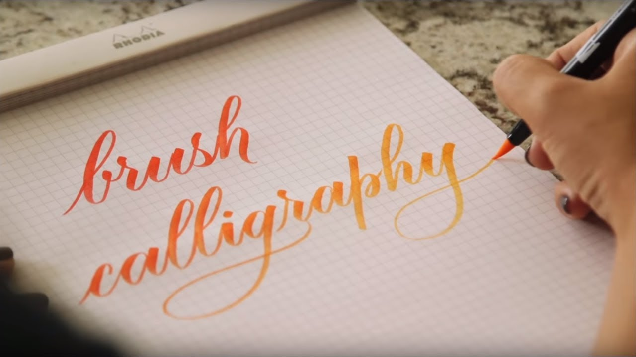 Calligraphy For Beginners Online Learn Brush Calligraphy A Step By Step In Depth Course You Can Complete At Home