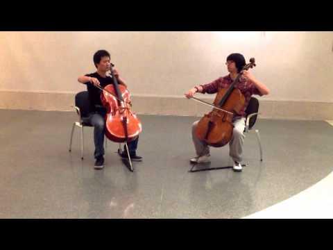 Shostakovich: 5 pieces for 2violin - prelude  Cello