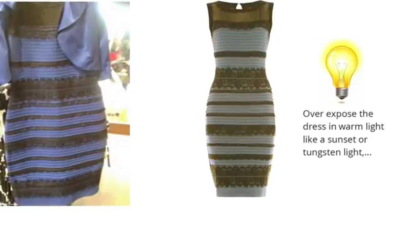 The dress is white - How The White And Gold Dress Is Actually Blue And Black