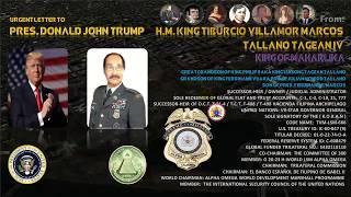 URGENT LETTER TO U.S.  PRESIDENT DONALD J. TRUMP from HM. KING TVM !!!