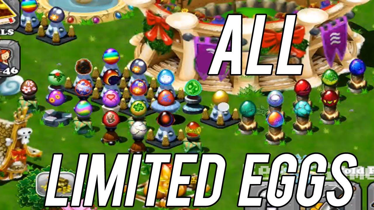 ALL LIMITED DRAGON EGGS in DragonVale! Begin 2013