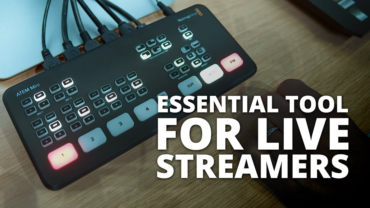The Blackmagic Atem Mini Is The Video Switcher That Live Streamers Didn T Know They Needed Youtube