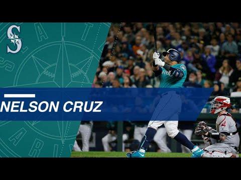 Nelson Cruz's 39 homers in 2017