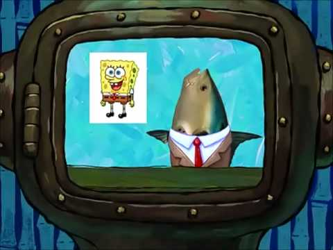 Fish newscasters on Spongebob