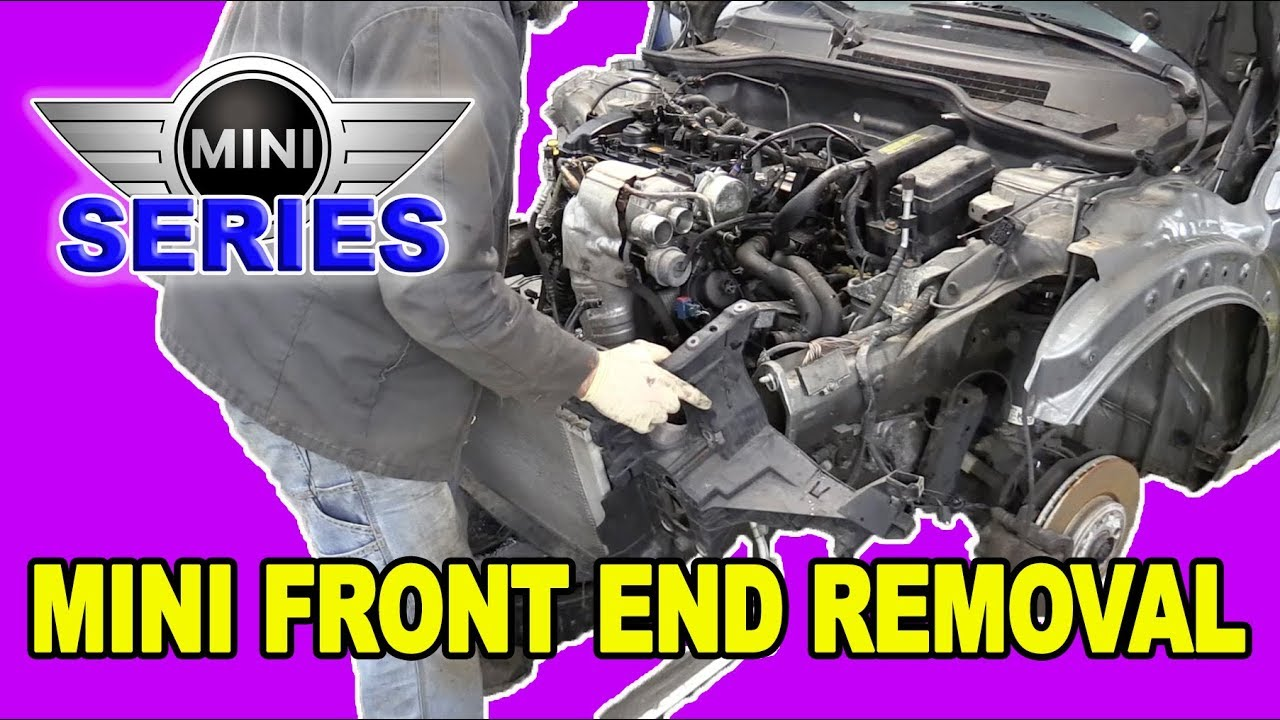 hight resolution of mini cooper s r56 front end removal