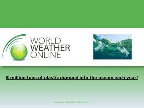 8 million tons of plastic dumped into the ocean each year