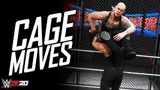 WWE 2K20 Top 10 Cage Match Moves (Pretty Awesome)