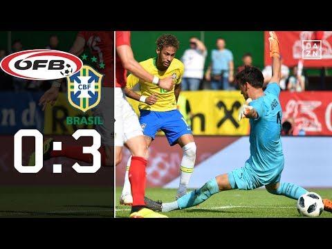 Neymar zaubert - Selecao in WM-Form: Österreich - Brasilien 0:3   Highlights   DAZN   Länderspiele