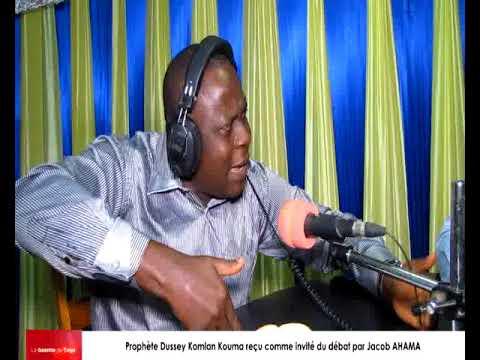 Prophète Dussey Komlan KOUMA Pépé reçu comme invité du débat par Jacob AHAMA