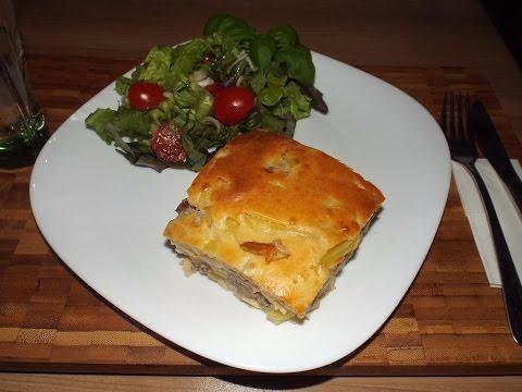 Пирог с мясом и картофелем кулинарный рецепт