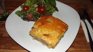 Быстрый заливной пирог с мясом (курица, индюшатина или с чем угодно), bistrij pirog