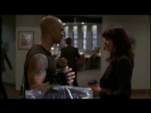 Criminal Minds deleted scene - Morgan brags about working out to Prentiss