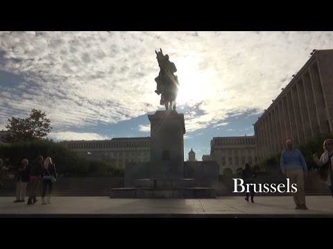 Brussels - Grand Place and European Parliament