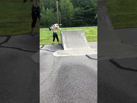 spotting - lift off of skateboard ramp