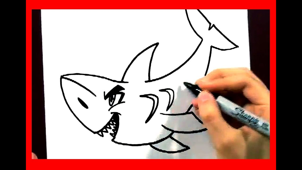 How To Draw A Shark In 2 Min  How To Draw Easy Cartoons Animals  Fun2draw  Art