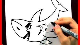draw shark easy animals cartoons fun2draw