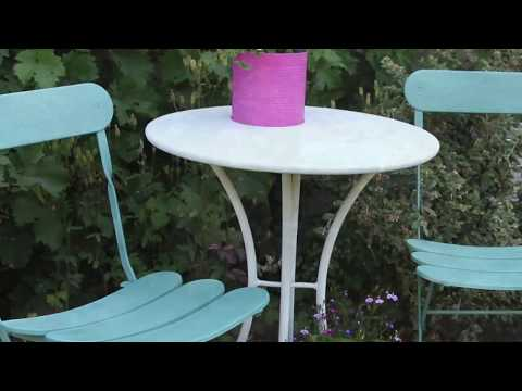 Metal Garden Furniture Facelift with PlastiKote spray paint