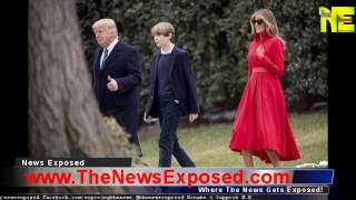 Barron Makes First Public Appearance At White House, But It Was What Melania