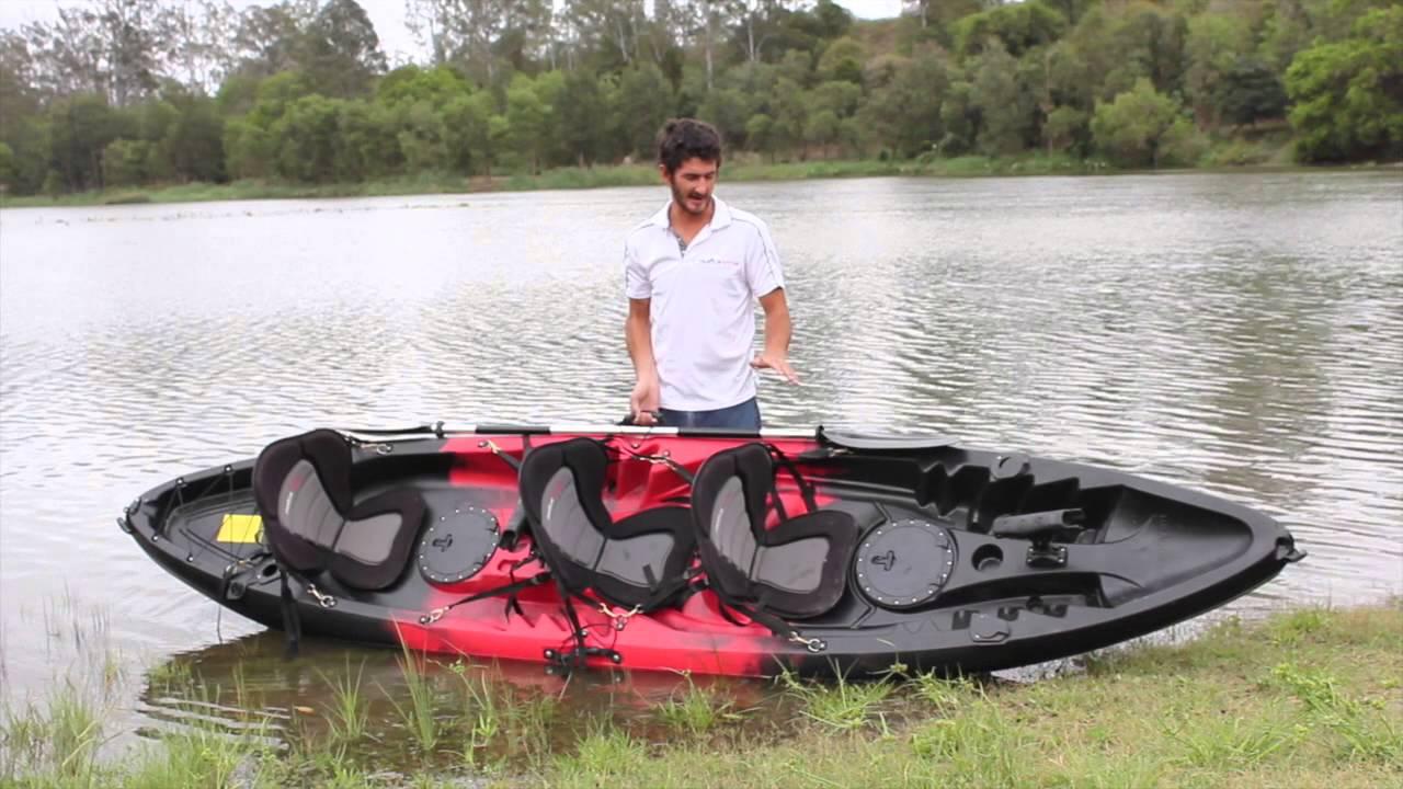 Family kayak tandem kayak review dragon kayak youtube for Two seater fishing kayak