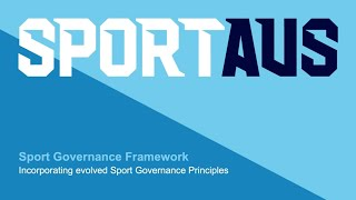 Sport Governance Principles Launch 2020