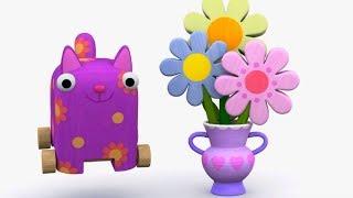 Деревяшки - День Рождения + Зернышко - обучающие мультфильмы для малышей 0-4
