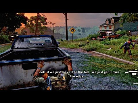 The Last Of Us - Car Escape From Zombies & Getting Ambushed Scene (PS4 Pro)