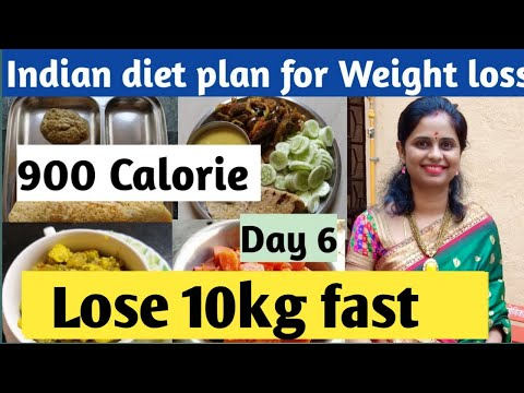 Indian Diet plan for weight loss | 900 calorie (day 6) | How to lose weight fast