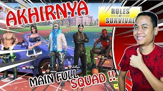 FULL SQUAD ROS KEMBALI !!! - Rules of Survival PC Indonesia