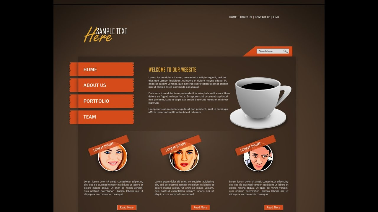 Photoshop tutorial web design coffeeclub youtube baditri Image collections