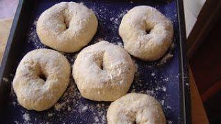 Homemade Bagels (arabic Subtitles) صنع خبز البيغل في المنزل