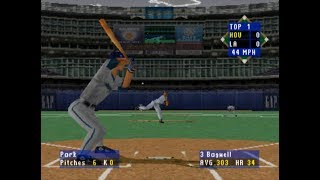 High Heat Baseball 2000 (PLAYSTATION) LA Dodgers and Houston Astros