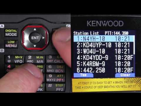 Using APRS on a Kenwood TH D74A