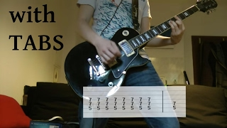 Kelly Clarkson - Since you been gone Guitar Cover w/Tabs on screen